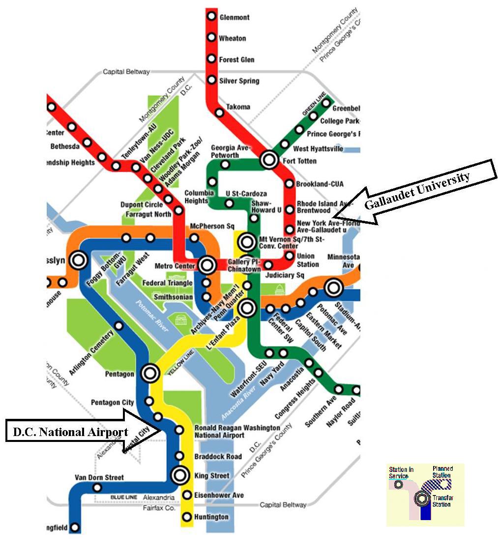 Washington National Airport - Nyc map airports